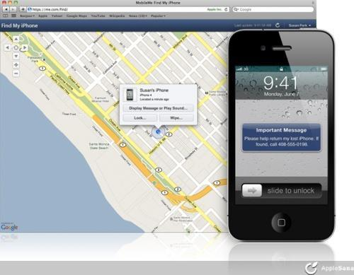 Configuracion find my iphone Mobileme
