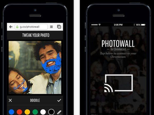 Photowall iOS 7 para Chromecast, tus fotos en la TV