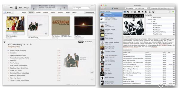 ArtistInfo para OS X Mavericks