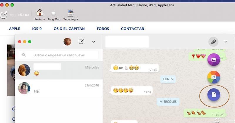 WhatsApp Web OSX