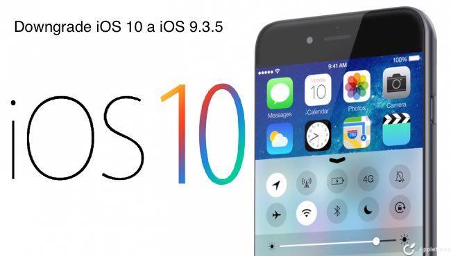 Cómo hacer un Downgrade de iOS 10 a iOS 9.3.5
