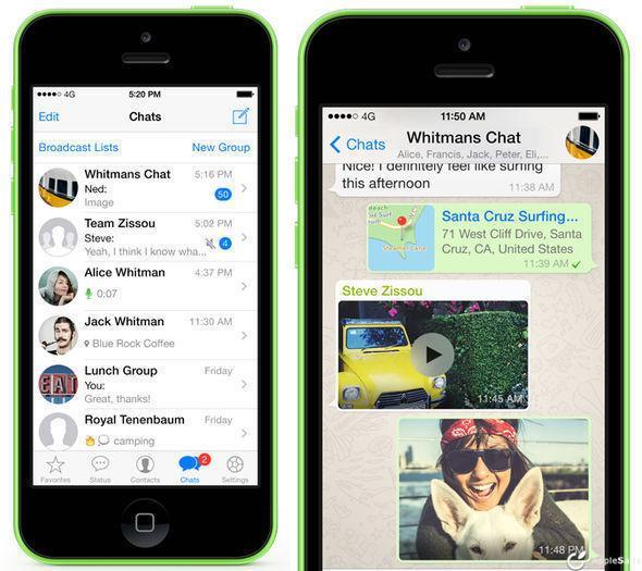 WhatsApp iPhonec