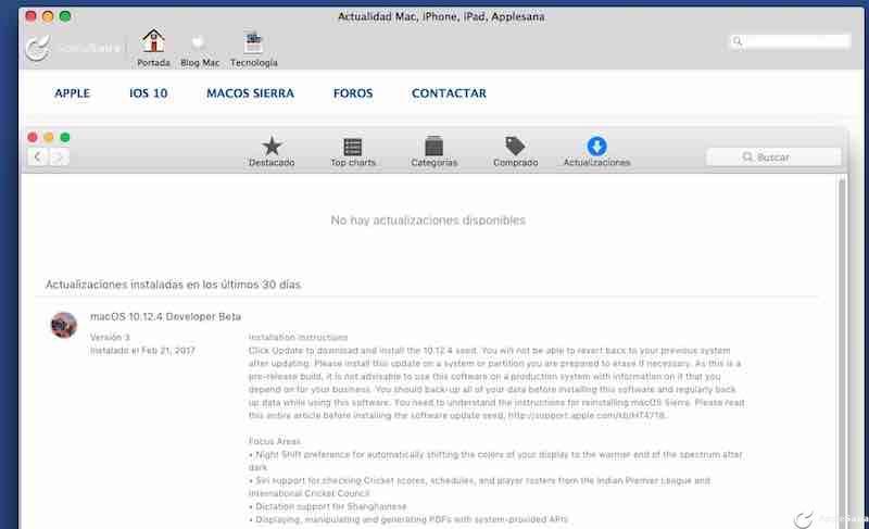 Apple sigue parcheando el fiasco de Macbook Pro 2016 con macOS Sierra 10.12.4 build 16E175b