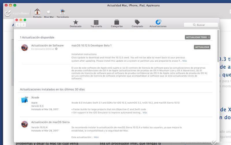 Apple publica macOS 10.12.5 para terminar de dejar macOS Sierra más o menos bien