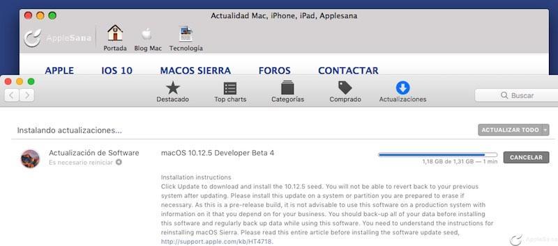 La actualización macOS Sierra 10.12.5 beta 4 convierte tu Mac en un ordenador funcional