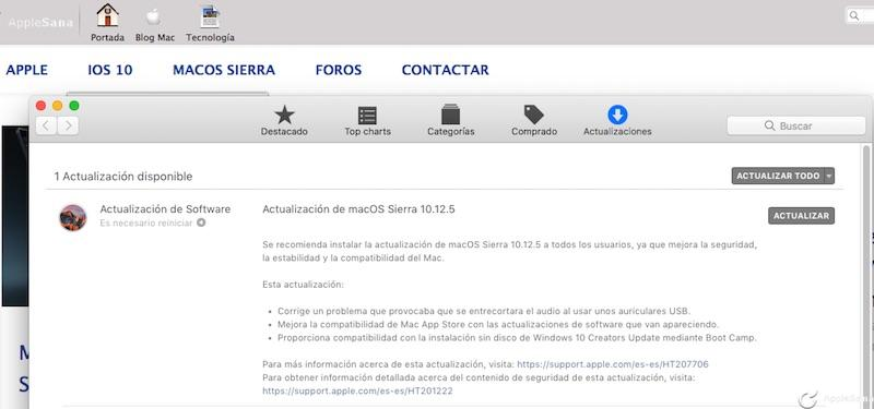 Microsoft y Google completan macOS Sierra 10.12.5 por fin