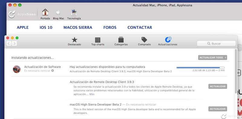Apple publica la segunda beta de macOS Sierra High Sierra 10.13