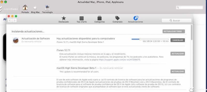 Apple publica el primer macOS High Sierra 10.13.2