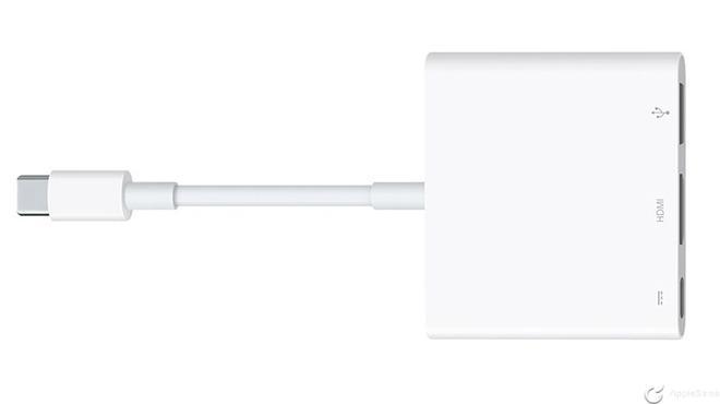 Apple actualiza su adaptador USB-C Digital AV Multiport Adapter compatible con HDMI 2.0